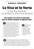 Législatives 2017: le vice et la vertu, ce que nous révèlent les affaires Fillon, Le Pen, Dassault