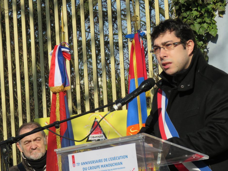 Discours de Florian Vigneron à la commémoration du 73e anniversaire de l'exécution du groupe Manouchian fusillé par les nazis le 21 février 1944 au Mont-Valérien